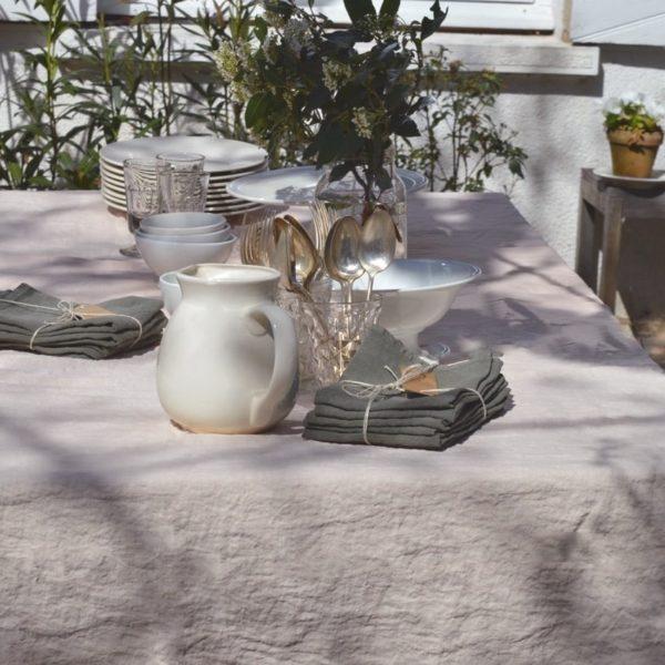 linge de maison en lin lavé serviettes et nappes
