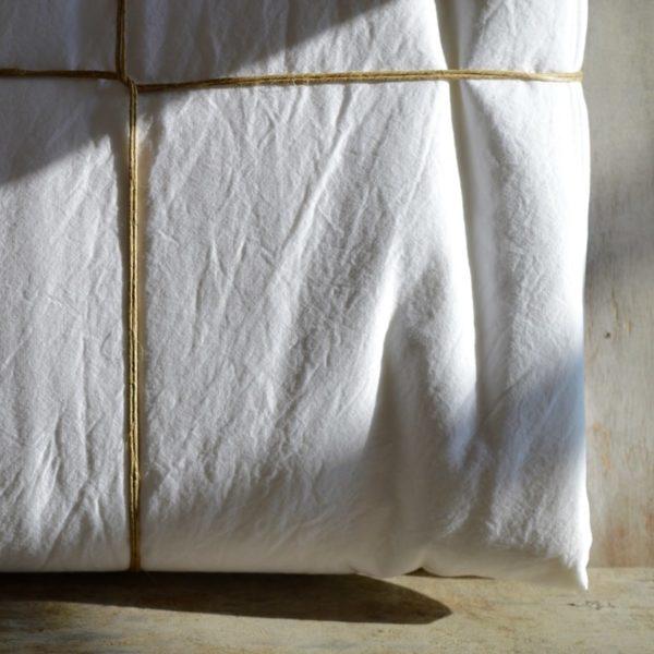linge de maison en lin lavé housse de couette
