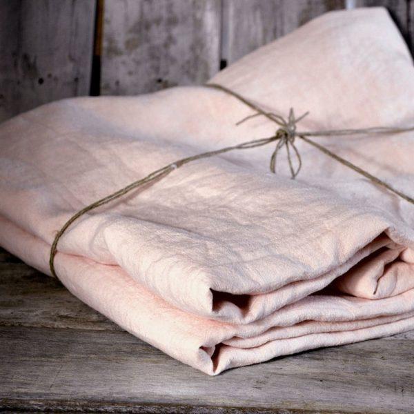 linge de maison en lin lavé draps