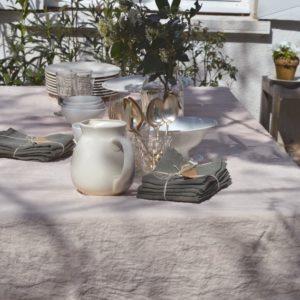 linge de maison en lin lavé pour l'extérieur