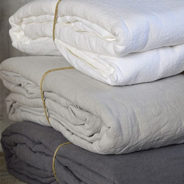 linge de maison en lin lavé fabrique en france